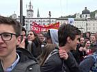 Schüler demonstrieren gegen Bildungsreform