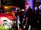 Schwerer Verkehrsunfall im Kreisverkehr-Mitte fordert zwei Verletzte