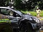Schwerer Verkehrsunfall auf der B156 fordert eine schwerverletzte Person