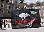VGT protestiert am Residenzplatz gegen Gatterjagd
