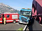 Tödlicher Lkw Unfall auf der A10 bei Puch/Urstein