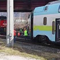 Zuggarnitur am Salzburger Hauptbahnhof entgleist