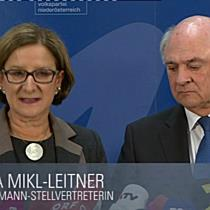 Johanna Mikl-Leitner wird erste Landeshauptfrau Niederösterreichs