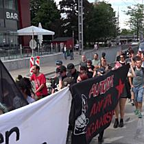 Demonstration der linken Antifa in Salzburg-Stadt