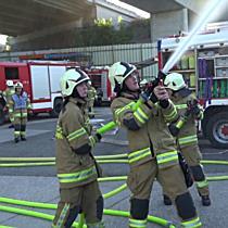 Großübung der Freiwilligen Feuerwehr in Salzburg-Kasern