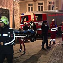 Café Central wurde Raub der Flammen