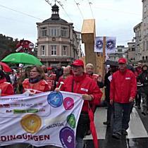 Protestmarsch gegen TTIP und CETA in Salzburg