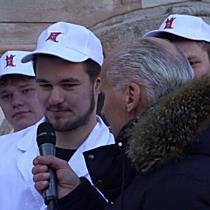 Traditioneller Metzgersprung in der Stadt Salzburg