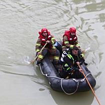 Pkw stürzt in Hallein in Salzach