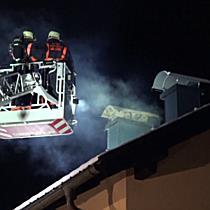 Kaminbrand in Austraße in Itzling