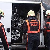 KFZ-Brand auf Raststation der Westautobahn bei Söllheim