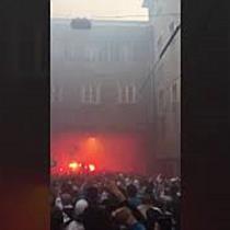 Marseille-Fans ziehen durch Salzburg