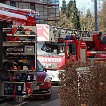 Christbaumbrand in Firmengebäude an der Ignaz-Harrer-Straße