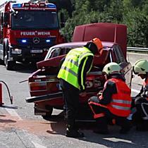 Lkw-Unfall auf der A1 bei Salzburg-Nord: Stau