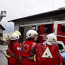 Dachstuhlbrand in Sikh Tempel in Salzburg