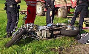 Schwerer Motorradunfall bei Eugendorf
