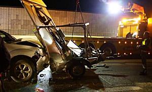 Alkolenker crasht auf der A1 ungebremst in ASFINAG Fahrzeug