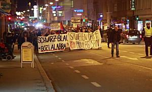 Demo in Salzburg gegen Schwarz-Blaue Regierung