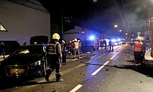 Verletzte nach Unfall in der Hellbrunner Straße in Salzburg