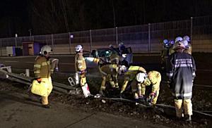 Verkehrsunfall auf A1 bei Eugendorf