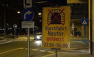 Felssicherungsarbeiten am Neutor in Salzburg