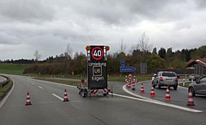 Sturm sorgt für Sperre der A8 in Bayern