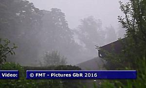 Heftiges Unwetter zog über den Norden der Stadt Salzburg