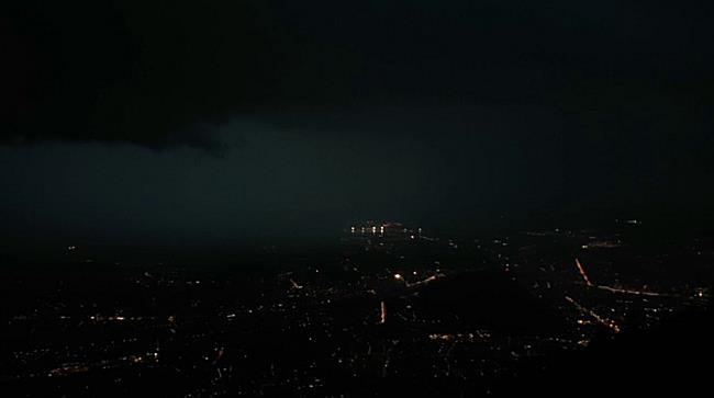 Unwetter tobt über der Stadt Salzburg