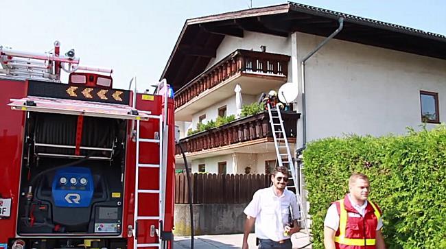 Ein Verletzter bei Balkonbrand in der Stadt Salzburg