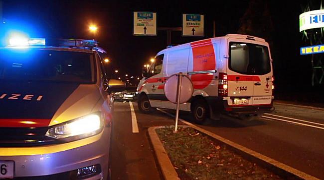 Schwerer Verkehrsunfall nahe Europark fordert zwei Verletzte